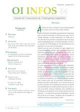 OI Infos 84 (oct 2012) est disponible