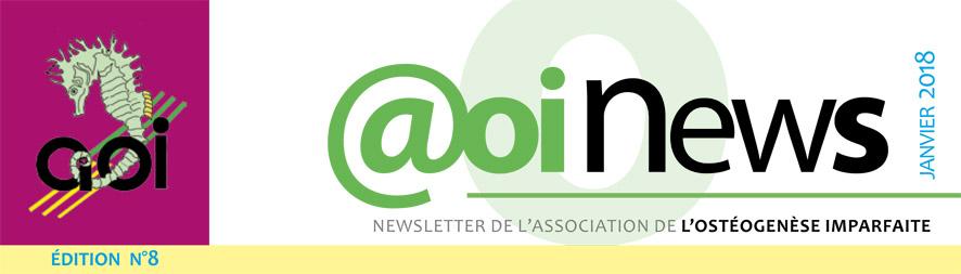 Newsletter n°8 -  Janvier 2018